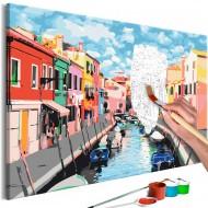 Tableau à peindre par soimême  Houses in Burano
