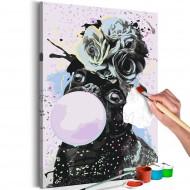 Tableau à peindre par soimême  Bubble Gum Pug