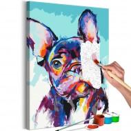 Tableau à peindre par soimême  Bulldog Portrait