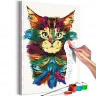 Tableau à peindre par soimême  Colourful Mane