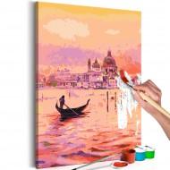 Tableau à peindre par soimême  Gondola in Venice