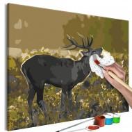 Tableau à peindre par soimême  Deer on Rut