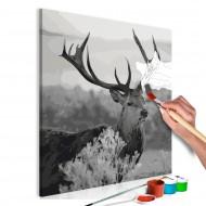 Tableau à peindre par soimême  Grey Wildness
