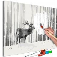 Tableau à peindre par soimême  Deer in the Snow