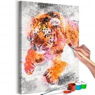 Tableau à peindre par soimême  Running Tiger