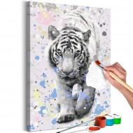 Tableau à peindre par soimême  White Tiger