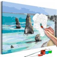 Tableau à peindre par soimême  Rocks in the Sea