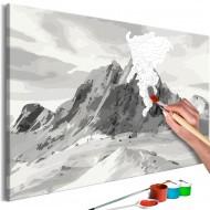 Tableau à peindre par soimême  Alps Panorama