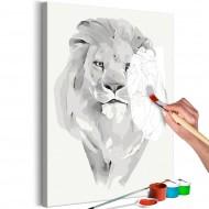 Tableau à peindre par soimême  White Lion