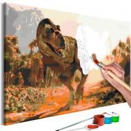 Tableau à peindre par soimême  Dangerous Dinosaur