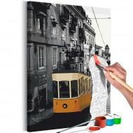 Tableau à peindre par soimême  Tram in Lisbon