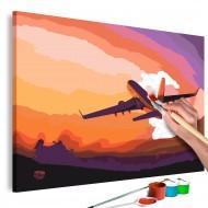 Tableau à peindre par soimême  Plane in the Sky