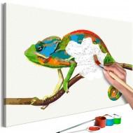 Tableau à peindre par soimême  Chameleon
