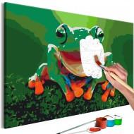 Tableau à peindre par soimême  Laughing Frog