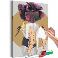 Tableau à peindre par soimême  Parrot Woman