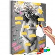Tableau à peindre par soimême  Naked Woman With Flowers