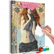 Tableau à peindre par soimême  Romantic Nudity