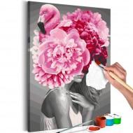 Tableau à peindre par soimême  Flamingo Girl