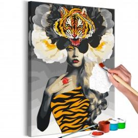 Tableau à peindre par soi-même - Eye of the Tiger