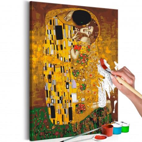 Tableau à peindre par soimême  Klimt The Kiss