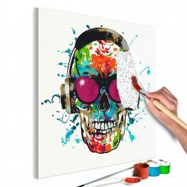 Tableau à peindre par soi-même - Disc Jockey