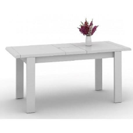 Table de s jour blanche extensible 220 cm beaux meubles pas chers - Table de sejour extensible ...