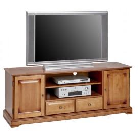 Meuble Grand Ecran TV Merisier 159 cm