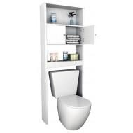 Armoire WC 2 Portes Blanche 175 cm