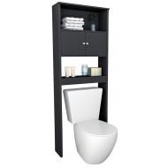 Armoire WC 2 Portes Noire 175 cm