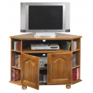 Meuble TV d'angle chêne 2 portes 5652R