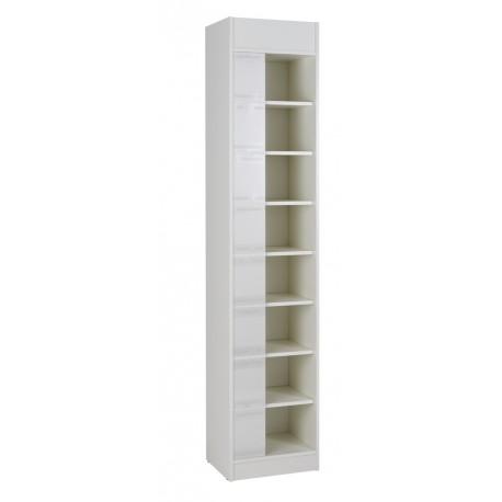 4 Rayonnages 8 Niveaux Blancs H 202 cm