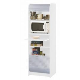 Meuble de Cuisine Colonne Micro-onde Blanc Alu