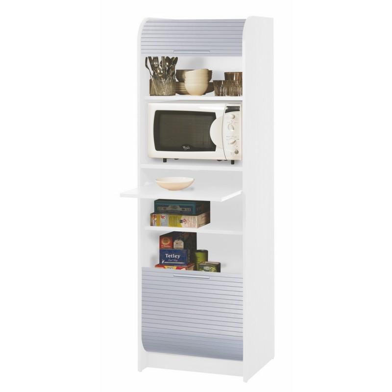 meuble de cuisine microonde blanc alu  beaux meubles pas