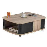 Table Basse Rectangle 80 cm Chêne 4 Rideaux