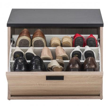 Banc Coffre A Chaussures 9 Paires Beaux Meubles Pas Chers