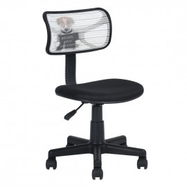 Chaise de Bureau Noire Bad Dog