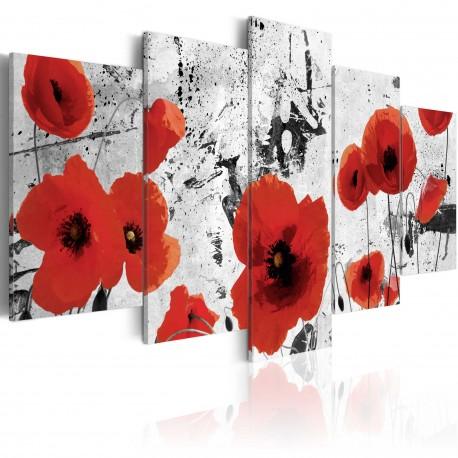 Tableau  Scarlet flowers