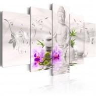 Tableau  White Buddha