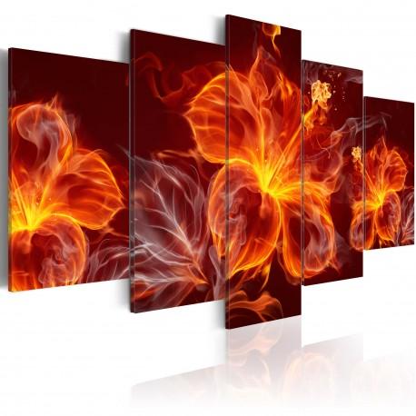 Tableau  Fiery Flowers