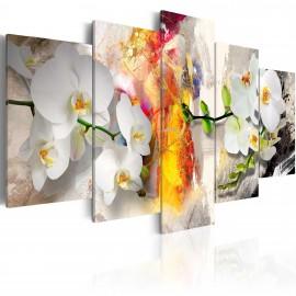 Tableau - Orchidée et couleurs