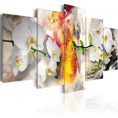 Tableau  Orchidée et couleurs
