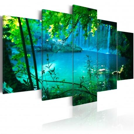 Tableau  Asile turquoise