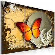 Tableau  Flight of a butterfly