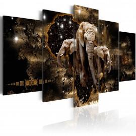 Tableau - Brown Elephants (5 Parts) Wide