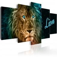 Tableau  Gold lion