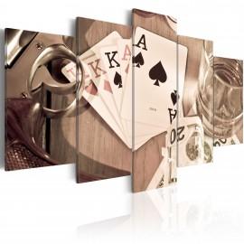 Tableau - Poker night - sepia