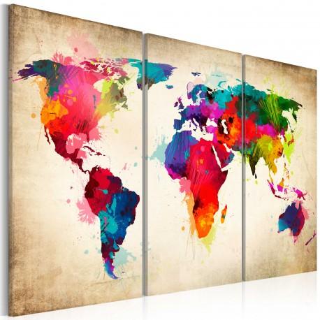 Tableau  Rainbow Continents