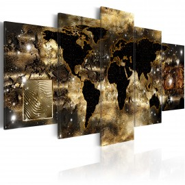 Tableau - Continents of bronze