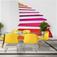 Papier peint  Colorful stairs