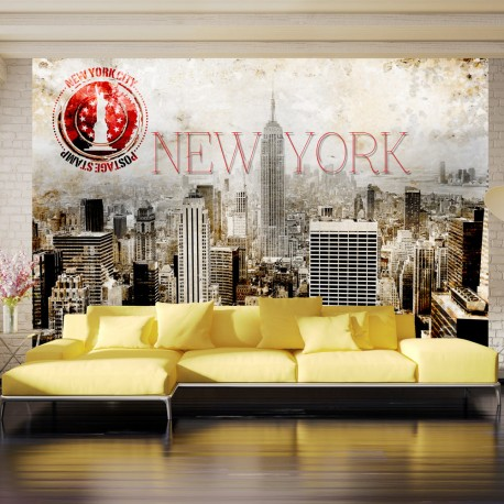 Papier peint  New York  POST AGE STAMP